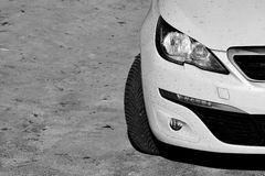 Dirty white car Stock Image