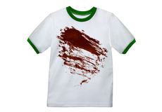 Dirty White Shirt Royalty Free Stock Image