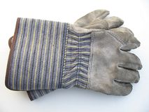 Dirty work gloves stock photography