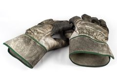Dirty work gloves Stock Photos