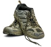 Dirty work shoes Royalty Free Stock Image
