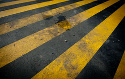 Dirty yellow pedestrian crossing Stock Photography