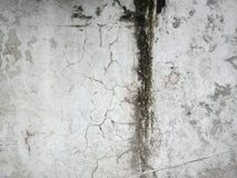 weathered, Dirty and damp wall, crust in wall royalty free stock photography