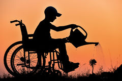 Disabilities, and avid nature lover Royalty Free Stock Photography