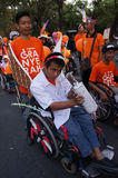 Disabilities parade Stock Photo