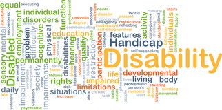 Disability background concept Stock Photography