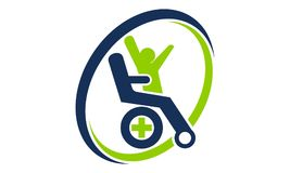 Disability Care Logo Design Template. Vector Stock Photography