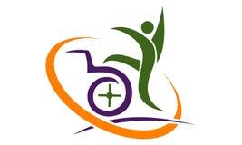Disability Care Logo Design Template. Vector Stock Photo