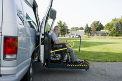 Disability conversion van Stock Photo