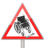 Disability. 3d generated picture of a wheelchair sign vector illustration