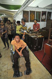 Disability Expo in Indonesia. People with disabilities who exhibit their business products at The Disability Expo in Surakarta, Central Java, Indonesia Royalty Free Stock Photos