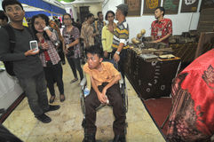 Disability Expo in Indonesia. People with disabilities who exhibit their business products at The Disability Expo in Surakarta, Central Java, Indonesia Stock Photo