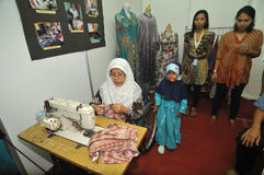 Disability Expo in Indonesia. People with disabilities who exhibit their business products at The Disability Expo in Surakarta, Central Java, Indonesia Royalty Free Stock Photography