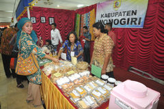 Disability Expo in Indonesia. People with disabilities who exhibit their business products at The Disability Expo in Surakarta, Central Java, Indonesia Royalty Free Stock Images