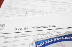 Disability form Stock Photography