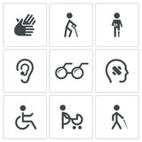 Disability Icon collection Stock Photography