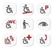Disability icon set Royalty Free Stock Photography