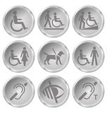 Disability Icons Royalty Free Stock Photo
