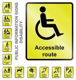 Disability Information Signs Stock Image