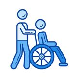 Disability line icon. Stock Photography