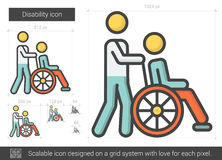 Disability line icon. Stock Images