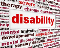 Disability medical poster design Royalty Free Stock Image