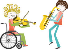 Disability and music Royalty Free Stock Image