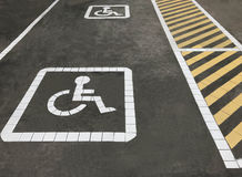 Disability parking Stock Images