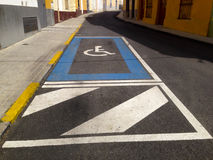 Disability parking place Royalty Free Stock Photography
