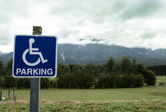Disability parking Stock Image