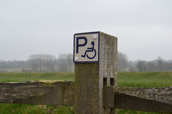 Disability parking sign Royalty Free Stock Photography