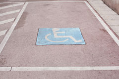 Disability parking space Royalty Free Stock Photo