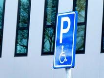 Disability parking space, Dutch. stock photos