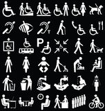 Disability and people Graphics Stock Images