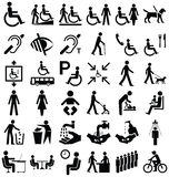 Disability and people Graphics Royalty Free Stock Photos