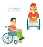 Disability person concept Royalty Free Stock Photos
