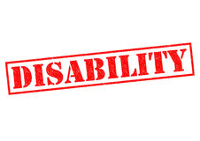 DISABILITY. Red Rubber Stamp over a white background Stock Images