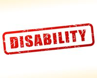 Disability red text stamp. Illustration of disability red text stamp Stock Image