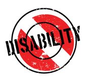 Disability rubber stamp Royalty Free Stock Photos