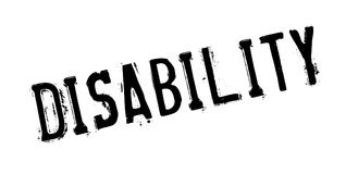 Disability rubber stamp Stock Photos