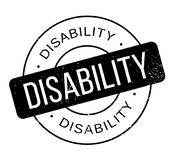 Disability rubber stamp Stock Photography