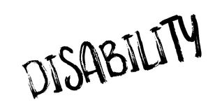 Disability rubber stamp Stock Image