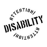 Disability rubber stamp Royalty Free Stock Images