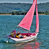 Disability Sailing. Gosford,Australia. Sailing with the disabled persons, at the Gosford Sailing Club, New South Wales, Australia. STOCK KW Sailing Disability Stock Images