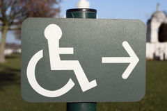 Disability Sign Stock Photo
