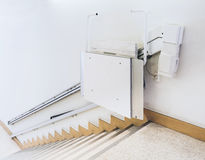 Disability stairs lift facility Royalty Free Stock Photo