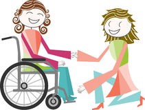 Disability in wheelchair Royalty Free Stock Images
