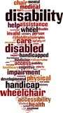 Disability word cloud stock illustration