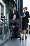 Disability at work Royalty Free Stock Images