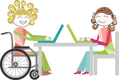 Disability and work Stock Photos